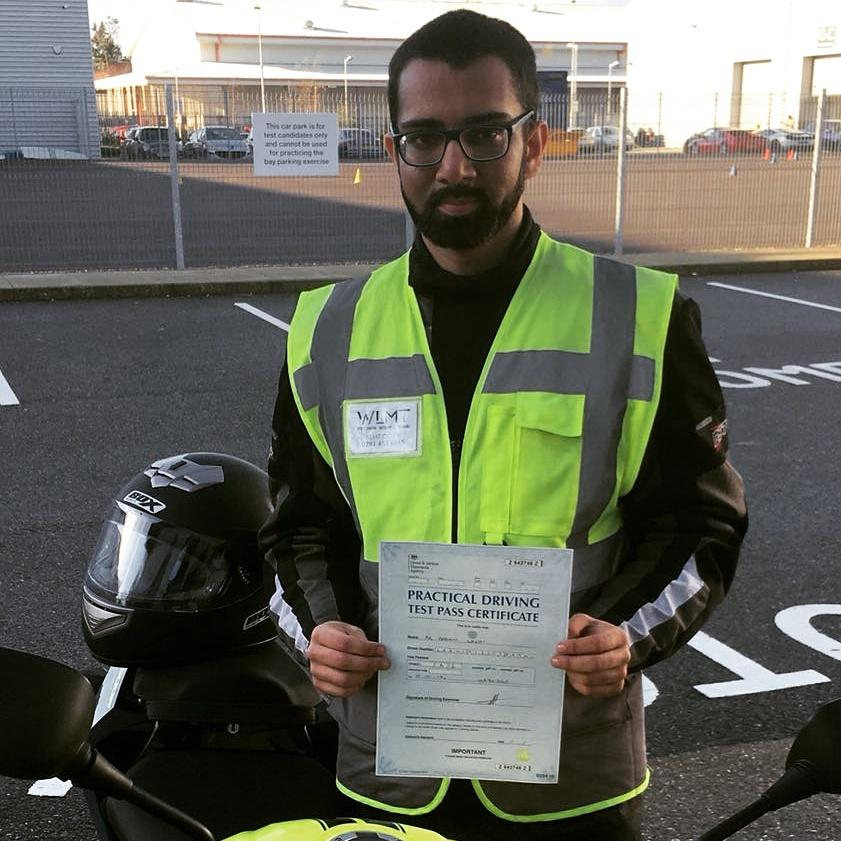 Aadam passed and now has his A2 licence!